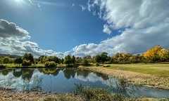 Landscape - 7751 (✵ΨᗩSᗰIᘉᗴ HᗴᘉS✵84 000 000 THXS) Tags: autumn clouds sky iphone11promax iphone water reflection reflet belgium europa aaa namuroise look photo friends be yasminehens interest eu fr party greatphotographers lanamuroise flickering hss sliderssunday