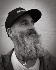 Close Shave (Livesurfcams) Tags: appledore tourist devon winter beard model cap fuji fujifilm xpro1 27mmpancake