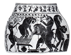 Satiri (Sparkling Wines of Puglia) Tags: vendemmia satiri illustrated illustrations illustrazioni illustraciones fauni raccoltauva illustration antico ancien