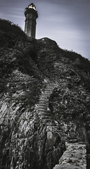 Le phare du Portzic façon Frank Miller (Julien Bihan) Tags: phare portzic bretagne finistere nature landscape outside dark stairs