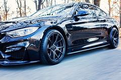 BMW M4 (Jenny Onsager) Tags: car cars bmw m4 black rims tires pavement shine automobiles movement