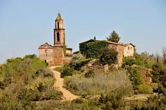 Abandoned Spanish village (M McBey) Tags: marmellar catalunya catalonia spain abandoned village church tower trees