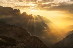 Forge of Light (Alexander Lauterbach Photography) Tags: dolomites dolomiti dolomiten italy mountains morning golden sunrise light landscape nature sony travel