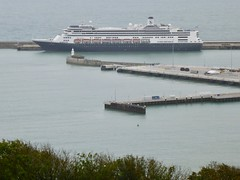 View of our home from Dover Castle (wseyers) Tags: 2019 cruise dover dovercastle uk