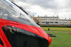 London's Air Ambulance in Ladbroke Grove (kertappa) Tags: img8232 air ambulance londons london hems doctor paramedics hospital gehms emergency helicopter kertappa kensington memorial park garden ladbroke grove