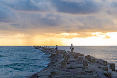 SouthPadreIsland_155 (allen ramlow) Tags: south padre island texas tx sunrise beach gulf coast clouds water sky sun jetty fishing sony alpha