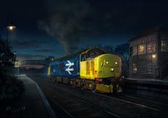 Early in the morning. (fil_yevko) Tags: class 37 class37 train loco