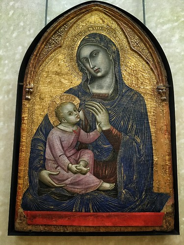 The Louvre  Paris France - Barnaba Da Modena- 1328  Painting  - Madonna and Child