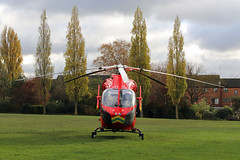 London's Air Ambulance in Ladbroke Grove (kertappa) Tags: img8262 air ambulance londons london hems doctor paramedics hospital gehms emergency helicopter kertappa kensington memorial park garden ladbroke grove