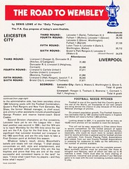 Liverpool vs Leicester City - FA Cup Semi Final - 1974 - Page 18 (The Sky Strikers) Tags: liverpool leicester city fa cup semifinal semi final old trafford road to wembley official programme 10p