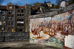 Tegelkunst in Verviers /Tile Art in Verviers (jo.misere) Tags: verviers wallonie belgium belgie tegels tiles wall muur