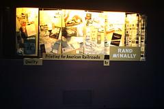 Found Photo - Rand McNally Product Display (Mark 2400) Tags: found photo rand mcnally advertising product display railroads