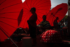 * (Sakulchai Sikitikul) Tags: street snap streetphotography summicron songkhla sony a7s 35mm leica thailand umbrella red