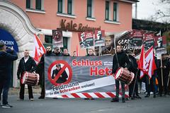 ndihgj7 (Felix Dressler) Tags: hannover demonstration npd pressefreiheit polizei blockade antifa protest