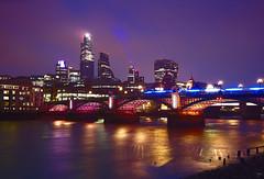 London at night (manumalle) Tags: london night river thames bridge south bank lights city england