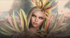 Daddy (tarja.haven) Tags: unik zibska sirengraph simplebloom headpiece shoulderheadpiece eyemakeup blush lipstick hair meshhair eyebrows photography photo portrait pixelart tarjahaven event avatar sl secondlife digitalart fashion virtual