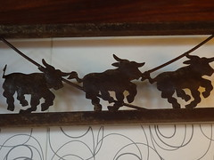 Running of the Bulls (knightbefore_99) Tags: mexico mexican rincon guayabitos nayarit cool awesome great best tropical decameron metal art bull steak restaurant fun labamba trio