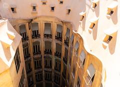 Abyss (dlerps) Tags: amount barcelona catalanya catalunya city daniellerps es espana lerps photography sony sonyalpha sonyalpha99ii sonyalphaa99mark2 sonyalphaa99ii spain spanien urban httplerpsphotography lerpsphotography building lapedrera casamila windows facade yellow architecture minolta minoltaaf28f28