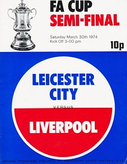 Liverpool vs Leicester City - FA Cup Semi Final - 1974 - Cover Page (The Sky Strikers) Tags: liverpool leicester city fa cup semifinal semi final old trafford road to wembley official programme 10p