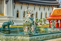 Sculpture with fountains in Muang Boran (Ancient City) in Samut Phrakan near Bangkok, Thailand (UweBKK (α 77 on )) Tags: muangboran muang boran ancient city siam outdoors open air museum park garden samutphrakan samut phrakan bangkok thailand southeast asia sony alpha 550 dslr sculpture statue water art fountain