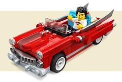 Rockabilly_Ride_1 (brickbloke77) Tags: vintage car classic 1950s rockabilly nostalgia style convertable automobile lego