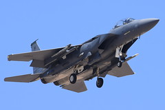 United States Air Force - McDonnell Douglas (Boeing) F-15E Strike Eagle - USAF 97-0217 - Nellis Air Force Base (LSV) - July 21, 2015 1 949 RT CRP (TVL1970) Tags: nikon nikond7200 d7200 nikongp1 gp1 geotagged nikkor70300mmvr 70300mmvr aviation aircraft airplane militaryaircraft militaryaviation nellisairforcebase nellisafb nellis redflagexercise redflag redflag153 lasvegas northlasvegas nevada lsv klsv unitedstatesairforce usairforce usaf usaf970217 af970217 970217 422ndtestandevaluationsquadron 422tes boeing mcdonnelldouglas mcdonnelldouglasf15eagle mcdonnelldouglasf15 f15eagle f15 eagle mcdonnelldouglasf15strikeeagle boeingf15strikeeagle boeingf15eagle mcdonnelldouglasf15estrikeeagle mcdonnelldouglasf15e boeingf15estrikeeagle boeingf15e f15estrikeeagle strikeeagle f15e prattwhitney pw prattwhitneyf100 f100 pwf100 prattwhitneyf100pw229 f100pw229 airtoairmissile aim120amraam aim120 amraam