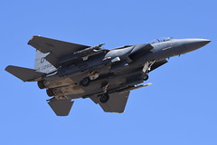 United States Air Force - McDonnell Douglas (Boeing) F-15E Strike Eagle - USAF 90-0258 - Nellis Air Force Base (LSV) - July 21, 2015 1 931 RT CRP (TVL1970) Tags: nikon nikond7200 d7200 nikongp1 gp1 geotagged nikkor70300mmvr 70300mmvr aviation aircraft airplane militaryaircraft militaryaviation nellisairforcebase nellisafb nellis redflagexercise redflag redflag153 lasvegas northlasvegas nevada lsv klsv unitedstatesairforce usairforce usaf usaf900258 af900258 900258 422ndtestandevaluationsquadron 422tes boeing mcdonnelldouglas mcdonnelldouglasf15eagle mcdonnelldouglasf15 f15eagle f15 eagle mcdonnelldouglasf15strikeeagle boeingf15strikeeagle boeingf15eagle mcdonnelldouglasf15estrikeeagle mcdonnelldouglasf15e boeingf15estrikeeagle boeingf15e f15estrikeeagle strikeeagle f15e prattwhitney pw prattwhitneyf100 f100 pwf100 prattwhitneyf100pw229 f100pw229 airtoairmissile aim120amraam aim120 amraam