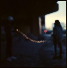 Connected by Light (lucas.dul2) Tags: mediumformat vseries 500cm hasselblad ektar film portrait night lowlight wideopen outoffocus blur