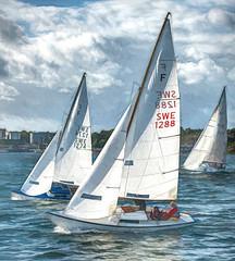 Folkboats (tonyguest) Tags: folkboat folkbåt yacht sailing water sea sky clouds karlshamn blekinge sweden tonyguest topaz hss swe1288 swe1274 kss karlshamnssegelsällskap kvällskapsegling scenicsnotjustlandscapes