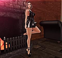 Lady (Joui Star) Tags: genus slink hourglass dress secondlife second life