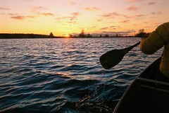 November spray (deanspic) Tags: canoe canoeing paddle paddling sunset waves wind spray by g3x cornwallcanal
