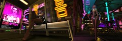 Keeloo in the city night (Keoniio_SL) Tags: drune10kcontest drune scifi contest sl second life femboy leeloo cyberpunk