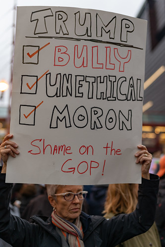 Bully Unethical Moron - Minneapolis Trump Campaign Rally Protest