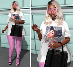 LOTD 530 .pick a side. (Daphne Kyong - The Real Slim Shady) Tags: nicki minaj fendi prints pink pussy pricy