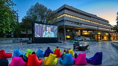 Movie (John Hewitt 7) Tags: luminosity7 launceston tasmania movie screen brutalist architecture colour nikond850 ericbana thecastle hentyhouse outdoorcinema australianfilm
