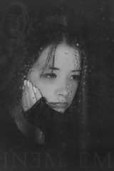 Stan DSC_4025 (BlueberryAsh) Tags: girl teenagerblackandwhite monochrome portrait window rain sad depressed music poster eminem