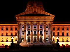 Alberta Legislature Building (rskura) Tags: ricohgriii provincial government lights night edmonton yeg architecture building legislature alberta