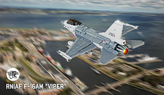 "F-16AM ""Viper"" (Mad physicist) Tags: lego f16 f16am mlu f16a fighter netherlands rnlaf"