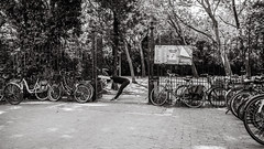 exercising (Gerard Koopen) Tags: amsterdam city capital vondelpark exercising people street streetphotography streetlife dailylife bikes nature blackandwhite monochrome noir ricoh griii 2019 gerardkoopen gerardkoopenphotography