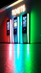 Sea of Colour.... (markwilkins64) Tags: cinema neonlights neon colourful red blue green reflection markwilkins brightcolours bright bold