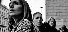 Line em up. (Baz 120) Tags: candid candidstreet candidportrait city contrast street streetphoto streetcandid streetportrait strangers rome roma ricohgrii europe women monochrome monotone mono noiretblanc bw blackandwhite urban life portrait people provoke italy italia grittystreetphotography faces decisivemoment