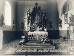 Church of Saint John of Nepomuk (wojciechpolewski) Tags: church christian cross poland wpolewski schwarzweis blackandwhite blanconegro blackwhite photos photo inside indoor architecture streetexplorer urbanexplorer