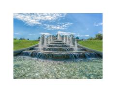 Vienna's Belvedere (My digital Gallery) Tags: eugenvonsavoyen vienna belvedere schlos austria fountain brunnen wien kultur culture schloss wasser europe eu blue sky himmel blau