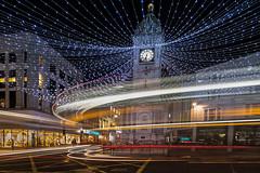 Christmas Lights Brighton (Gary Wakefield) Tags: brighton christmas lights car trails buses long exposure night urban