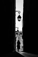 Alley (Mustafa Selcuk) Tags: photoderue streetphotographer streetlife streetshots street streetsofparis silhoutte woman xt2 fujifilmfrance fujifilm siyahbeyaz monochromatic monochrome blackandwhitephotography bnwphotography noiretblancphotographie noiretblanc bnw blackandwhite narrowstreet france parisienne paris narrow ruelle alley