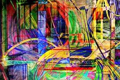 wirwar nu in kleur (roberke) Tags: digitalart creation creative creatief photomontage photoshop layers lagen textures textuur surreal fantasy colorfull conceptual kleuren kleurrijk hersenspinsel