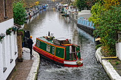 Little Venice (Croydon Clicker) Tags: canal waterway water boat barge dock littlevenice paddington london trees person man towpath nikon nikkor d700 af28105d