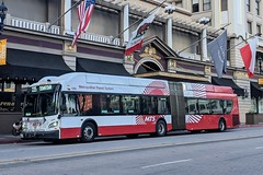 MTS Bus (So Cal Metro) Tags: sandiego bus metro transit mts sandiegotransit artic articulated articulatedbus newflyer xcelsior xn60 1300 bus1305 rt235 downtown broadway