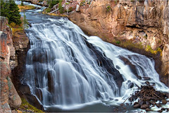 Gibbon Falls (Sandra Lipproß) Tags: gibbonfalls yellowstonenationalpark slowwater softwater wyoming usa landscape nature waterfall yellowstone wasserfall
