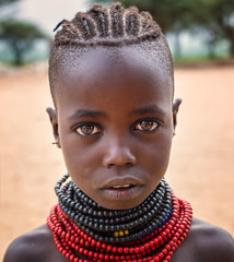 Karo Girl (Rod Waddington) Tags: africa african afrique afrika äthiopien ethiopia ethiopian ethnic ethnicity etiopia ethiopie etiopian outdoor omovalley omo omoriver korcho village karo tribe traditional tribal portrait people culture cultural child girl beads